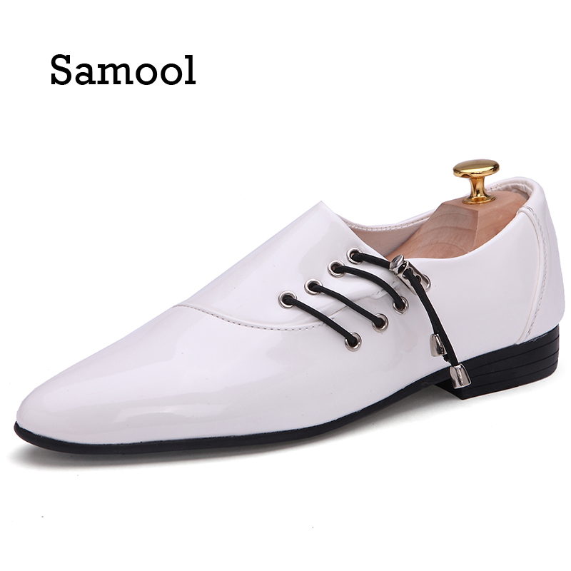 SAMOOL New Loafers Men Elastic Oxford Flat Shoes Top brand Men Moccasins Shoes Wedding Leather Men Shoes Casual zapatos Hombre ultimate фишки для игры в покер ultimate номиналом 5