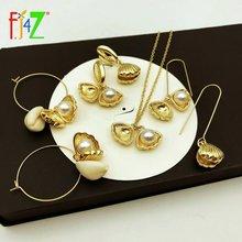 Женские серьги с искусственным жемчугом fj4z модная коллекция