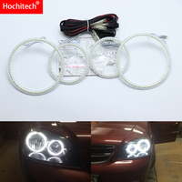for Chevrolet Lacetti Optra Nubira 2002 2008 Ultra bright SMD white LED angel eyes 2600LM 12V halo ring kit day light