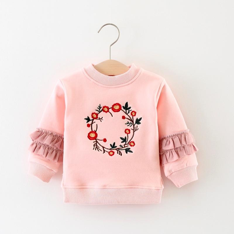Girls t shirt 2017 autumn winter baby girls cotton tees for Newborn girl t shirts