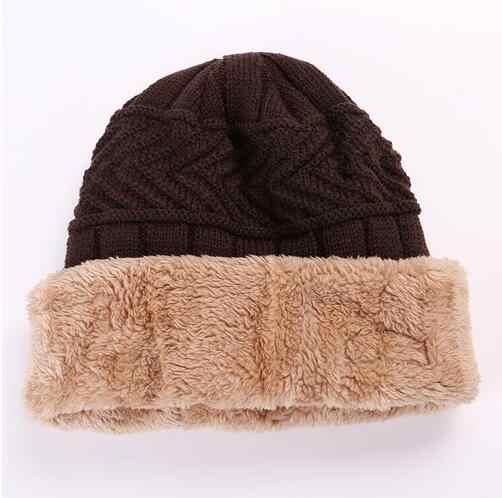 41fbb558c5e ... Neck warmer knitted hat scarf set fur Wool Lining Thick Warm Knit  beanies balaclava Winter Hat ...