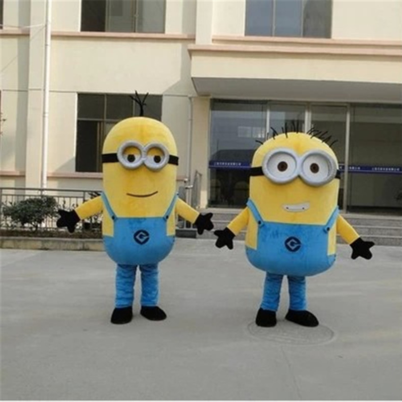 Minion Mascot Cosplay Costume For Adults Cartoon Garment Soybeans Doll Clothing
