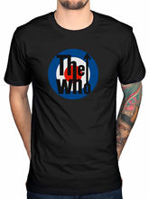 Official The Who Distressed Logo T-Shirt Endless Wire Quadrophenia Target Rock Print T Shirts Man Short Sleeve Top Tee