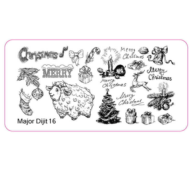 Christmas DIY Nail Art Image Stamp Stamping Plates Manicure Template ...