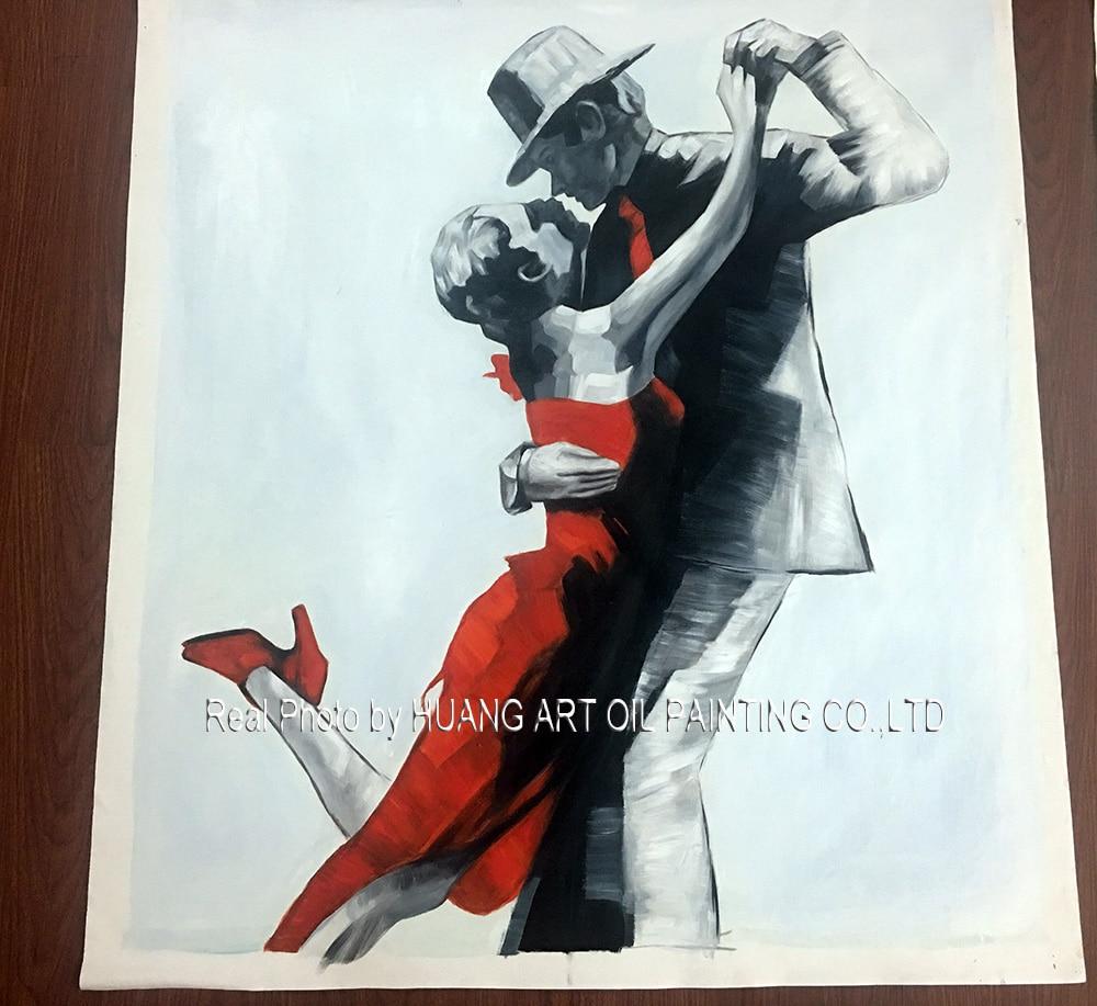 Ručno oslikana slika moderne plesačice na platnu za ukras dnevnog - Kućni dekor - Foto 5