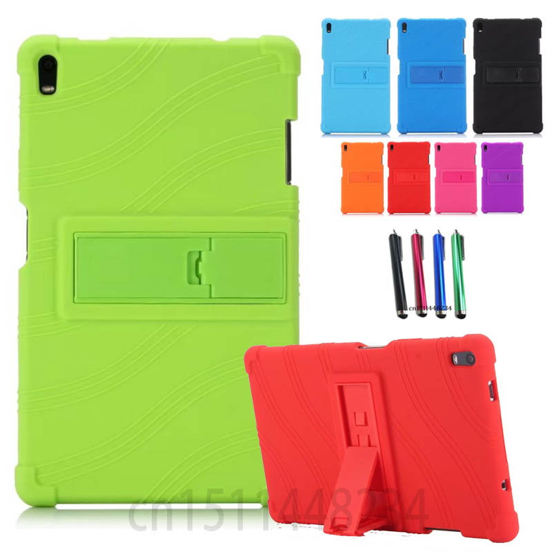 Case TB-8704F Back-Cover Shockproof Lenovo Tab4 Silicone For 8-Plus Non-Slip Thickening
