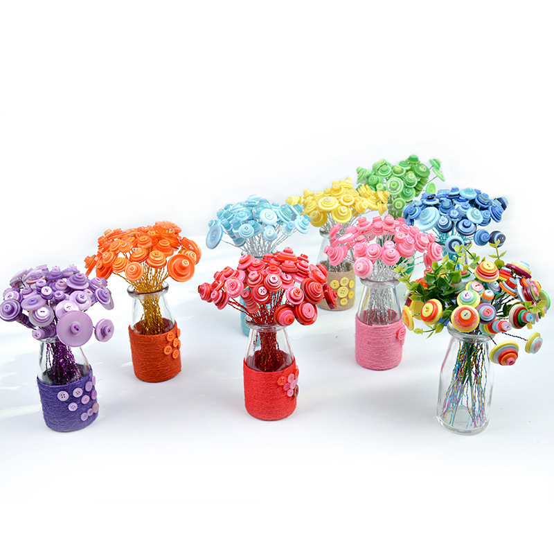 New Ideas Diy Button Bouquet Handmade Flower Child Handicrafts