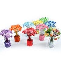 Nuove idee pulsante DIY bouquet di fiori fatti a mano bambino Artigianato scuola materna manuale corso making Pulsante fiore