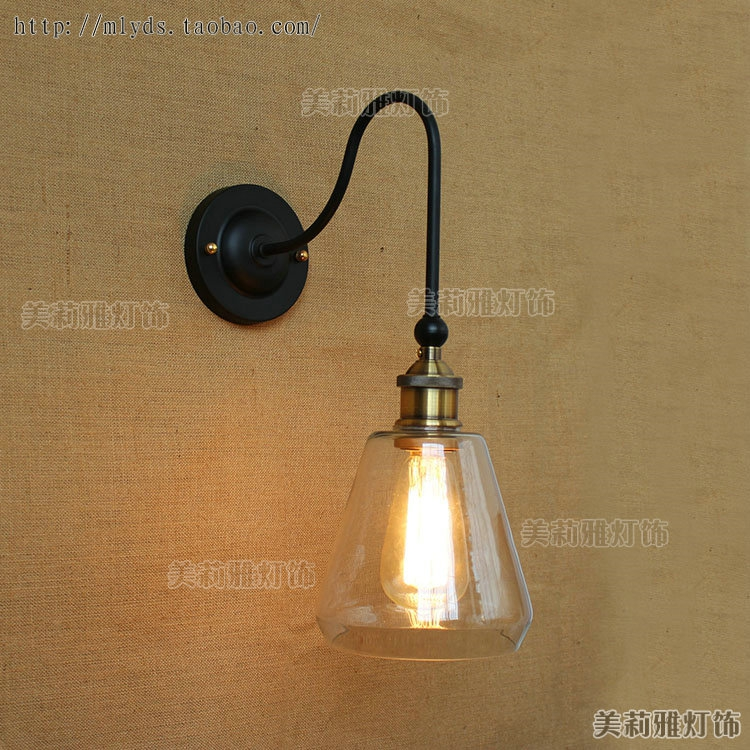 Nordic Retro Loft Style Industrial Vintage Wall Lamp Lights Fixtures Long Arm Appliques Pared LED Edison Wall Sconce glass arm long light retro wooden wall lights led edison style loft industrial wall sconce vintage wandlamp appliques pared