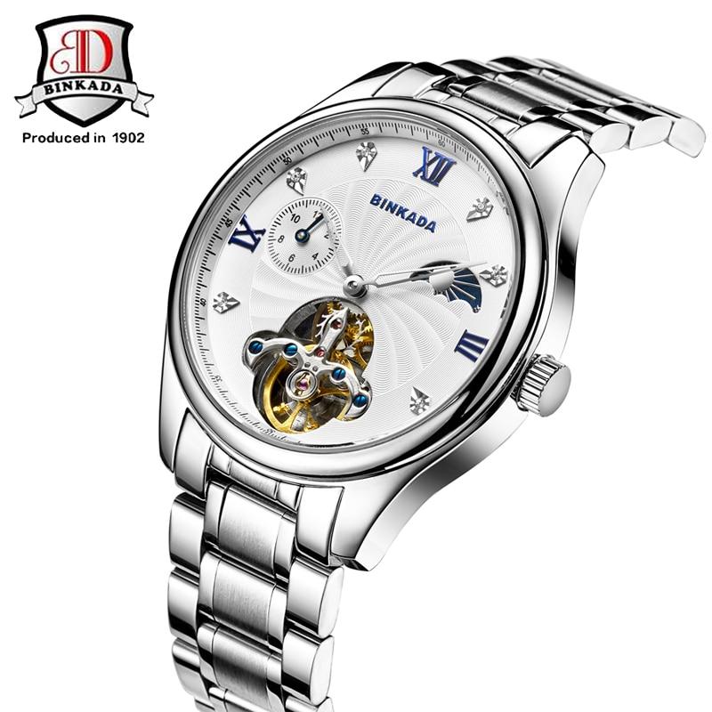 BINKADA Relojes Mecánicos Automáticos Hombres Acero Inoxidable - Relojes para hombres - foto 1