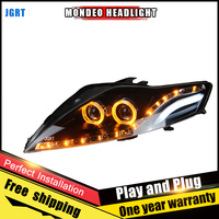 2PCS Car Style LED Headlights For Ford Mondeo 2007 2012 For Mondeo Head Lamp LED DRL