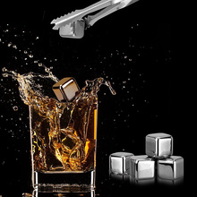 Reusable Stainless Steel Ice Cubes,  Chilling Stones for Whiskey Wine, Keep Your Drink Cold Longer ,Beer Drinks Cooler Ice Kitch kitch clock kitch clock 911440