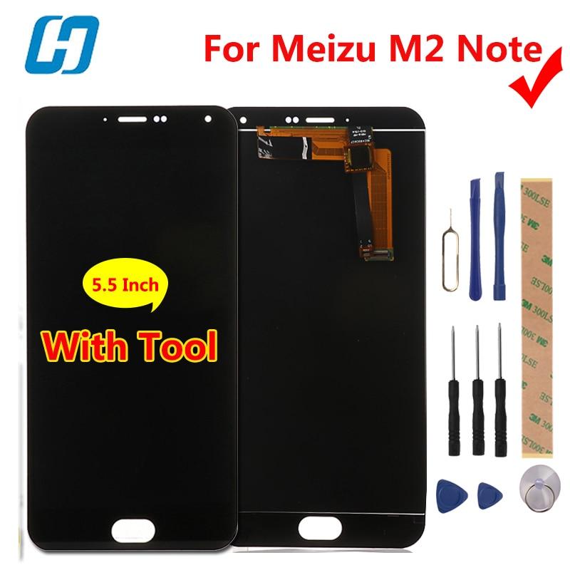 Meizu M2 Note ЖК-дисплей Дисплей + Сенсорный экран планшета Стекло Панель для Meizu M2 Note 1920x1080 FHD 5.5 сотовый телефон