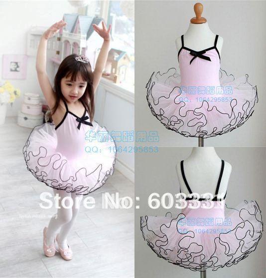 Girls Ballet Costume Tutu Skirt Child Party Leotards Dance Skate Dress SZ 3-8 Pink - dance dress store