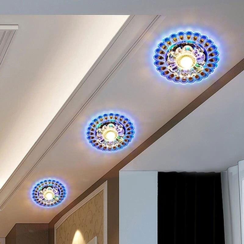 20 см Кристалл светодиодный светильник ing гостиная Павлин Потолочная люстра лампа потолочный светильник Husehold светильник питания