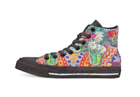 Daisy Still Life Unisex High Top Canvas flat Casual Custom shoes Drop Shipping