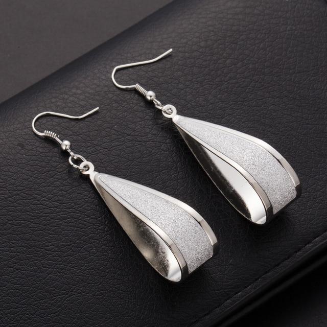 cd84345d6 Brincos longos cuelgan para mujeres plata oro matorrales cristal gota  Pendientes pendiente largo Pendientes para