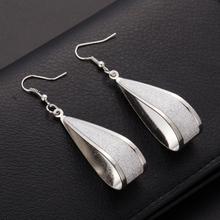 Brincos longos dangle para mulheres Silver Gold Crystal Scrub Drop Hook font b Earrings b font