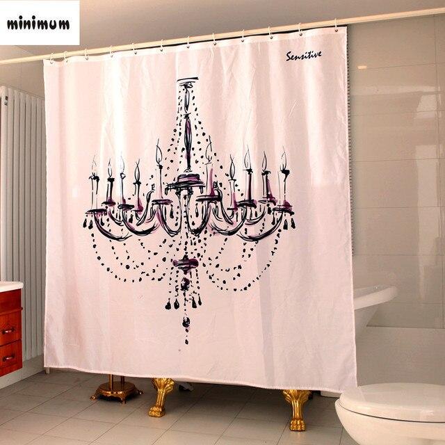 bad gordijnen badkamer raam klassieke creatieve kroonluchter waterdichte dikkere show gordijn gratis verzending