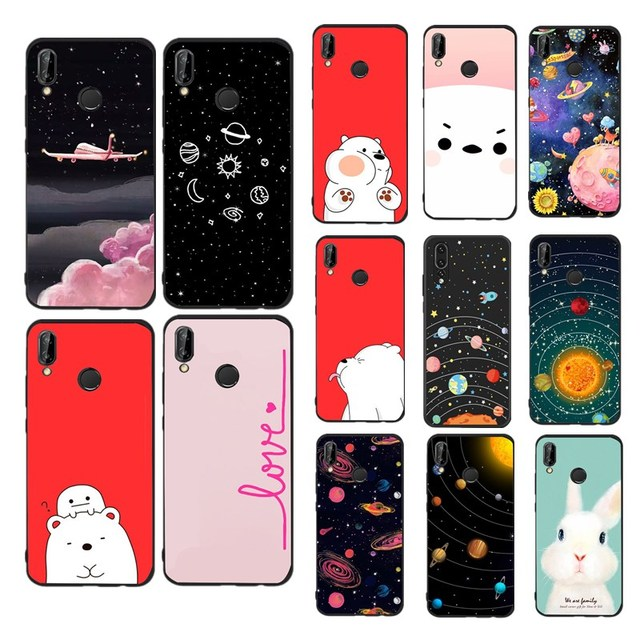 Lovely Case For Funda Huawei P20 Lite Case Silicon Cute Bear Soft TPU Cover Phone Case For Coque Huawei Case Cover Capas