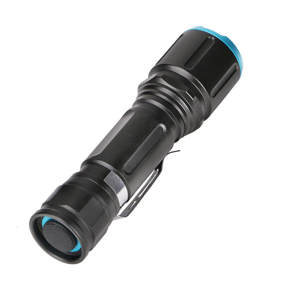 New 1000lm Portable USB Rechargeable LED Flashlight Lamp Torch Lantern Light with Clip for Camping Hiking WWO66