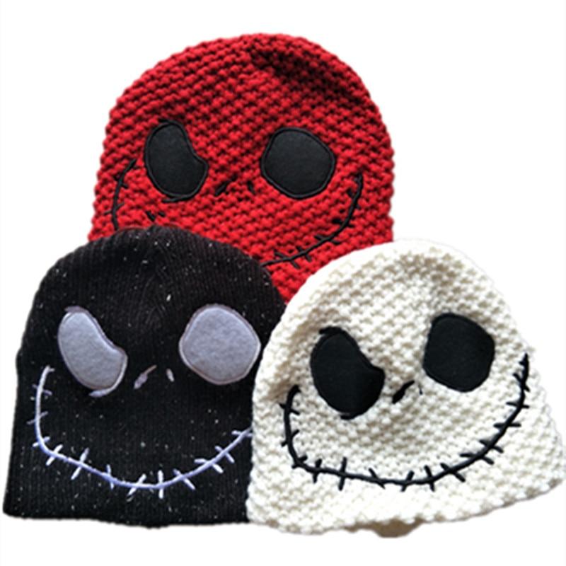 the Night Before Christmas Jack Skellington Skull Laplander Beanies Cap Adult Children Kid Winter Warm Hat 3 style can choose trendy movie silent night jack skull keyring