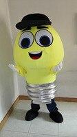 Талисман лампочка талисмана Герой мультфильма для костюмированной вечеринки оптовая продажа карнавальный костюм нарядное платье маскара