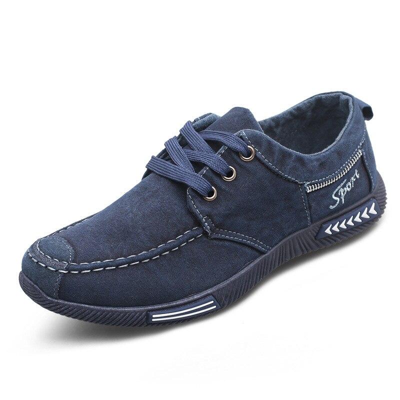 Occasionnels Denim gris Respirant Nouveau 2018 Dentelle De Chaussures Bleu Hommes Toile O7RpWfxRqF