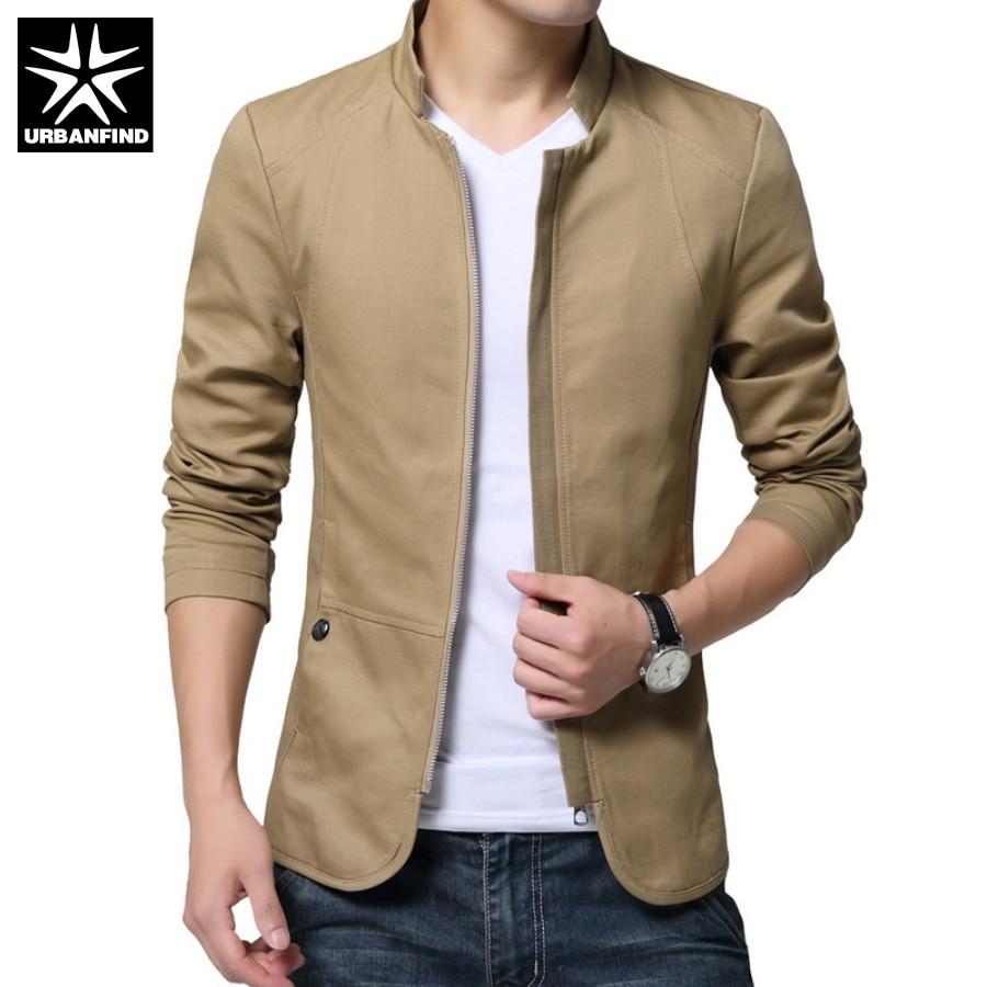 Mens khaki jacket casual - Korean Style Man Casual Coats Spring Autumn Solid Color Male Slim Jackets Hot Sale Men Fashion
