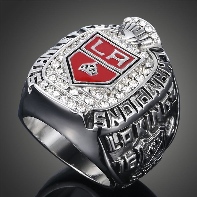 New Arrival NHL 2012 LA Los Angeles Kings Stanley Cup Championship Sports Hockey Rings For Men J02027