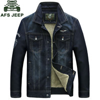 M 4XL New Retro Denim Jackets Mens Jeans Coats Winter Jackets Brand NIAN JEEP Thicken Denim