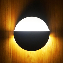 Modern fashion 360 degree rotary led light bedside bedroom background aisle stair hotel led wall lamp 9w led wall light sconce
