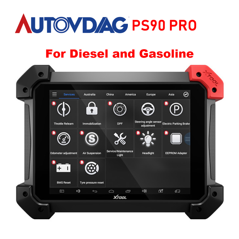 Xtool Ps90 Pro Heavy Duty Diagnose Werkzeug Für Auto/Lkw/Diesel/Benzin Obd2 Schlüssel Programmierer Kilometerzähler update online mit wifi/bt