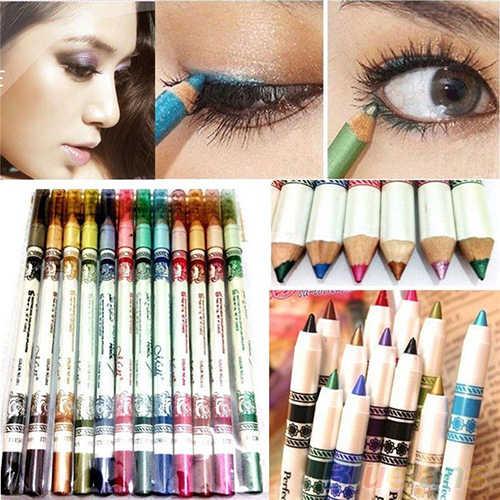 12 ألوان التجميل بريق ظلال العيون الشفاه اينر كحل قلم رصاص وقلم وجاف مجموعة ماكياج 1V7H 6ZI3 7GVZ BGHK