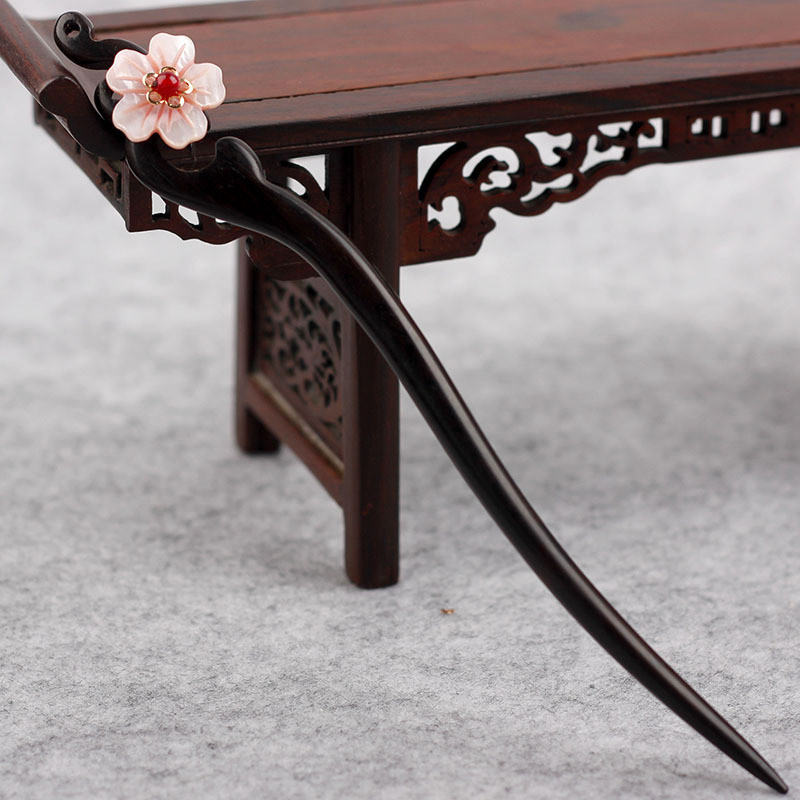 Vintage Wood Chinese Hairpin 2