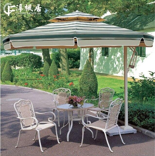 Outdoor Patio Umbrellas Shade Beach Casual Restaurant Opened Security Booth  Advertising Umbrella 3.0m