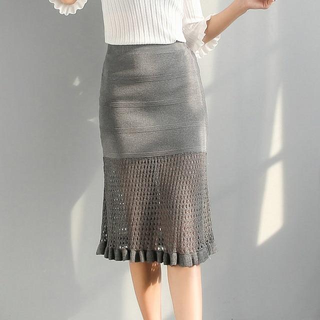 Wankou Womens Skirt 2017 Autumn New Fashion High Waist Pencil Skirt