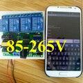 AC 85 V-265 V 220 V 4CH Controle Remoto Sem Fio Do Relé Do Bluetooth Android app para Motor Home Inteligente Carro LEVOU Sistema de Controle de Acesso