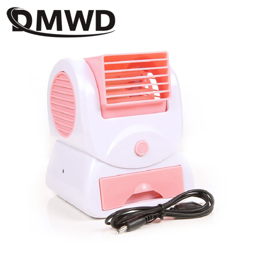 DMWD Usb battery dual-use mini Conditioner cooling fan dormitory Office desktop Bladeless air conditioning fans Humidification dmwd mini desktop conditioner fan portable small household ultra quiet bladeless fans office conditioning cooler dormitory eu us