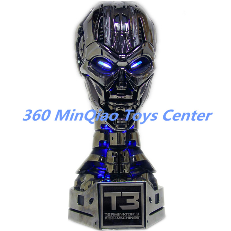 The Terminator 1:1 Bust T3 TX Skull Statue (LIFE SIZE) Female Terminator Half-Length Photo Or Portrait Resin ElectroplatingWU799 statue avengers captain america 3 civil war iron man tony stark 1 2 bust mk33 half length photo or portrait with led light w216