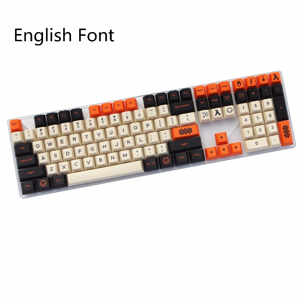 Carbon 125/172 Keys Dye-Sublimated cherry profile MX switch For Mechanical keyboard keycap Cherry Filco Ducky Replace the keycap