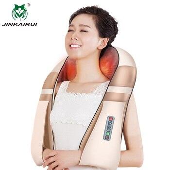 item image - JinKaiRui U Shape Electrical Shiatsu Body Shoulder Neck Massager Back Spa Infrared 4D Kneading Massagem Car Home Massager Shawl