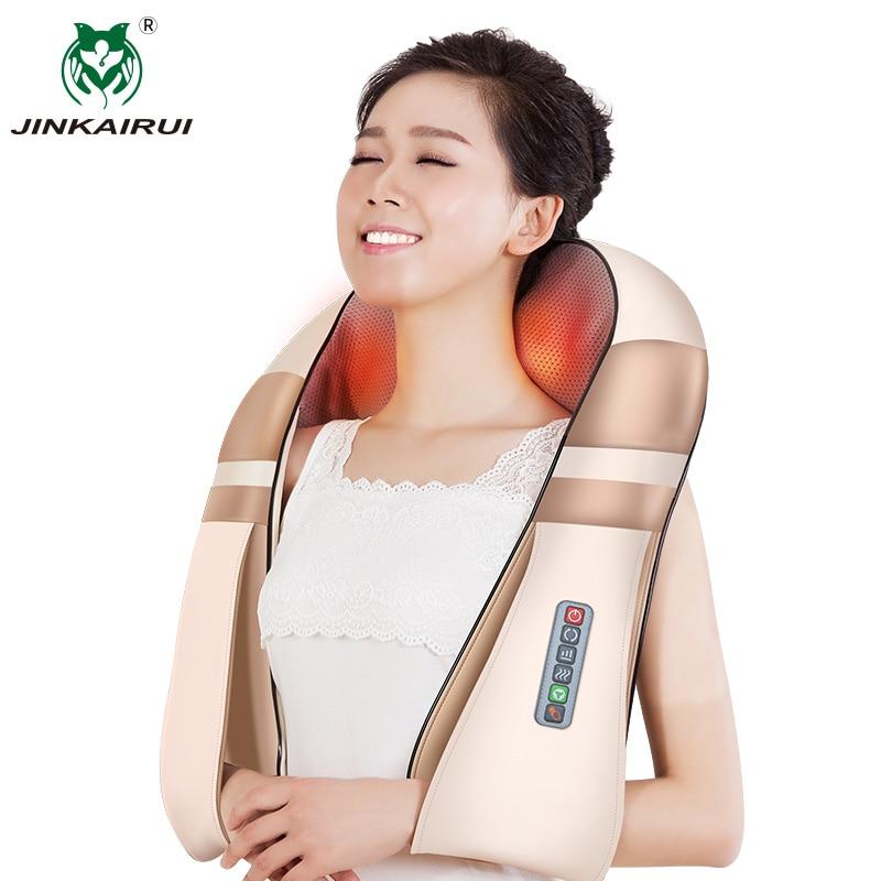 JinKaiRui U forme électrique Shiatsu dos cou épaule masseur corps Spa infrarouge 4D pétrissage Massagem voiture maison double usage Masaje