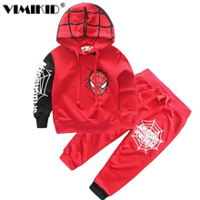 VIMIKID Clothes spring new model boy cool fan spider man quality suit children spiderman suit C1