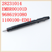 New Diesel Injectors Great Wall V200 28231014 Injector 1100100 ED01 HAVAL H6 H5 2013 YEAR 4D20 1100100ED01