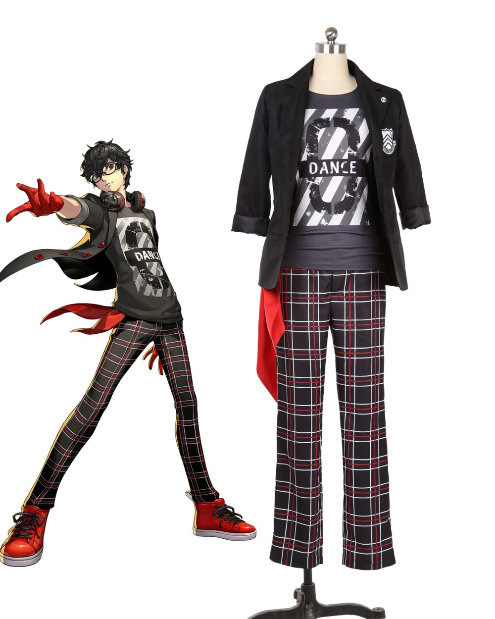 P5D Persona 5 Dancing In Starlight Ren Amamiya Cosplay Costume Custom Made Full Set