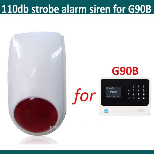 bilder für Wireless outdoor alarm strobe sirene-kompatibel mit G90B wifi alarmanlage