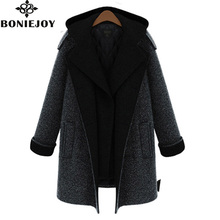 2016 Winter Woman's Jackets and Coats Thicken Wide-waisted Plus Size Double Button Elegant Warm Women Woolen Coat  Women Coats