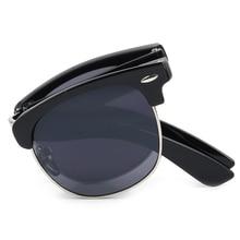 Classic Unisex Half Frame Folding Sunglasses