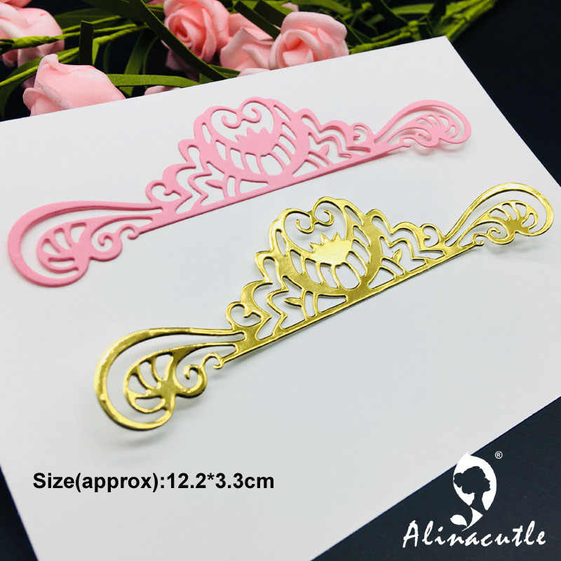 DIE CUT METAL CUTTING DIES cut crown lace edge border Alinacraft Scrapbook paper craft album card punch knife art cutter die